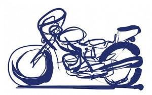 スピードメーターが壊れたバイクのような
